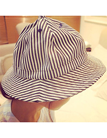 Tribal navy blue stripe pattern simple design canvas Sun Hats