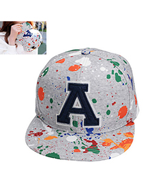 graffiti Gray Letter A Pattern Simple Design Canvas Baseball Caps