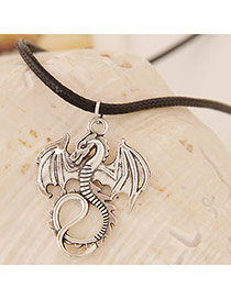 Concise Gun Black Dragon Shape Pendant Decorated Simple Design