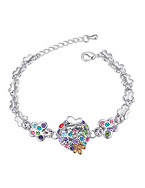 Elegant Multicolor Diamond&butterfly Decorated Simple Design  Alloy Crystal Bracelets