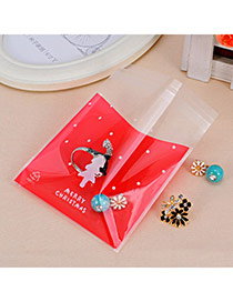 Sweet Red Dot & Christmas Tree Pattern Simpe Design Polypropylene Jewelry Tools