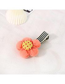Fashion Orange&yellow Dot Pattern Decorated Flower Design