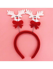 Lovely Red Deer Shape Decorated Asymmetry Design  Fabric Festival Party Supplies