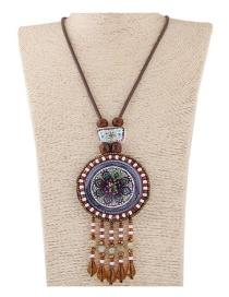 Collar De Moda Del Estilo Bohemia Decorado Con Colgante Exotico