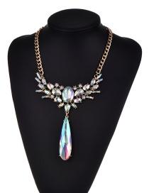 Collar De Moda Belleza Decorado Con Colgante De Gotas De Agua